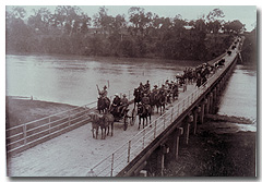 The Governor of Queensland is escorted into Gayndah